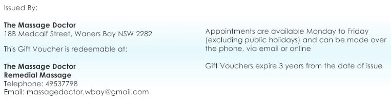Gift Vouchers » Remedial Massage